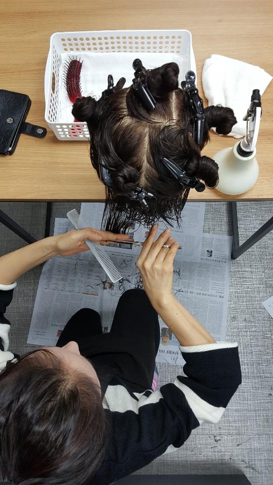헤어미용사(일반)취득자 양성과정 그레듀에이션 커트